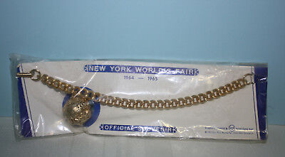New York World's Fair 1964-65 Official Souvenir Gold Unisphere Charm Bracelet