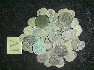 100 + Uncleaned roman coins lot. Trace of history.Metal detector finds