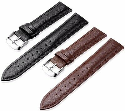 2 Wholesale Genuine Calf Leather Black Brown Watch Strap Size 16Mm To 24Mm Omega