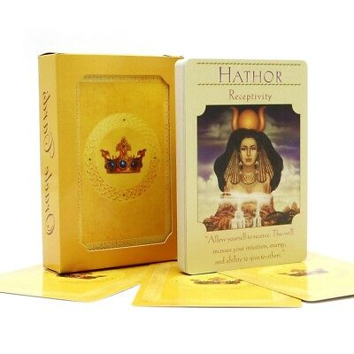 Deck English Beauty Oracle 44 Tarot Cards Guidance With for Family Board Game