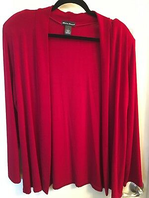 90ff204b9d41 MISS SIXTY RED Maxi Cardigan Made In Italy Size Large Nwt -  39.92 ...