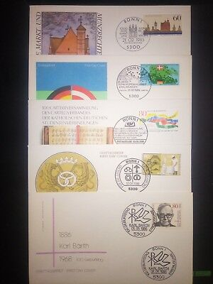 Deutsche Bundespost First Day Cover Collection Set 5 pcs lot