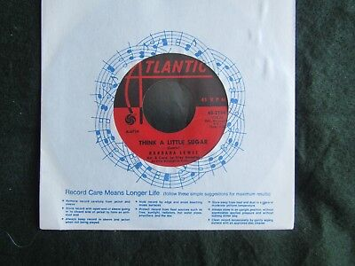 Barbara Lewis Hello Stranger / Think A Little Sugar Atlantic 45-2184 45 rpm 7""
