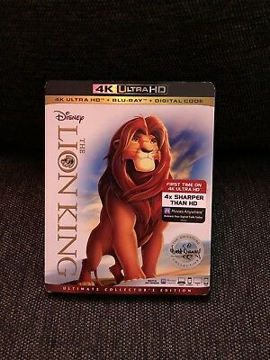 Disney The Lion King 4K Ultra HD + Blu-Ray/ FREE SHIPPING