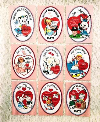 Set of 9 Cards~Christmas Vintage Angels~Greeting Card Toppers /& Crafts ~#26N