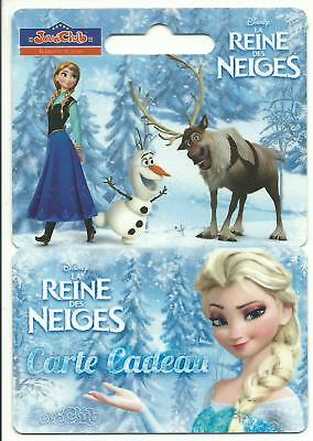 carte cadeau gift card JouéClub Disney La Reine des Neiges (NON UTILISABLE) TTB