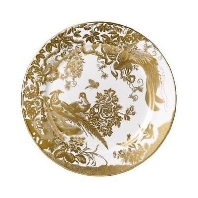 "New Royal Crown Derby 1st Quality Gold Aves 8"" Salad Side Plate with Gift Box"
