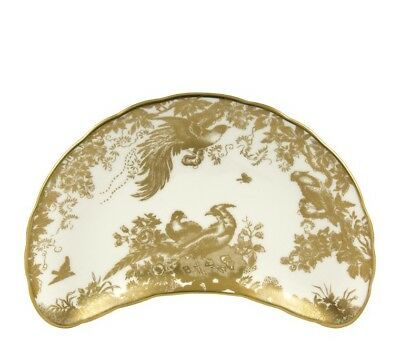 New Royal Crown Derby 1st Quality Gold Aves Crescent Salad Plate