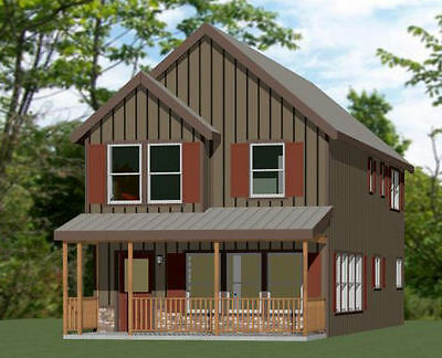 20x42 House - 3 Br 2.5 Bath - 1,570 sq ft- PDF FloorPlan - Model 4B
