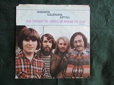 Creedence Clearwater Revival Run Through The Jungle Up Around The Bend 45 rpm 7""