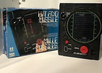Vintage Hit & Missile TOMY HANDELD ELECTRONIC GAME Battery Operated WORKS!