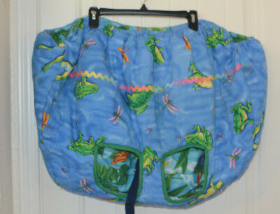 Infant Baby shopping cart cover high chair Toddler frogs dragonflies Reversible