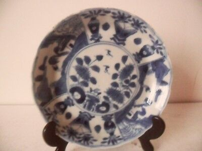 19th Century Antique Chinese Porcelain Blue And White Plate  Kangxi Marks