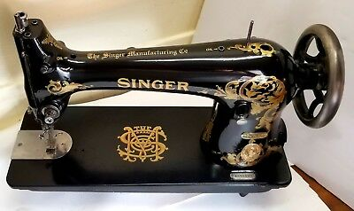 "COMPLETELY RESTORED 1913 Industrial Singer ""SIMANCO"" 31K-15 Sewing Machine"