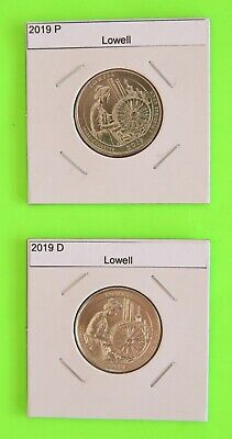 2019 PD set (2 Coins) Lowell America the Beautiful (ATB)–Mint Bags in hand