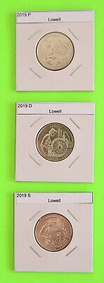 2019 PDS set (3 Coins) Lowell America the Beautiful (ATB)–Mint Bags in hand