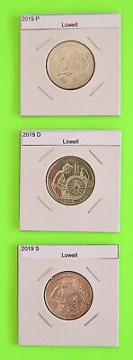 Presale! 2019 PDS set (3 Coins) Lowell America the Beautiful (ATB)–Mint Bags