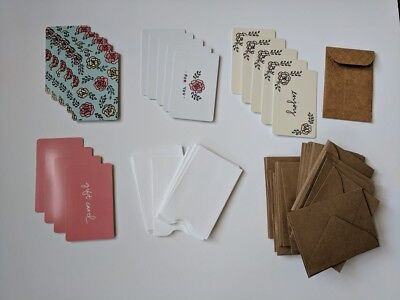 Empty Random Gift Card Lot of 19 Gift Cards and 40+ Gift Card holders