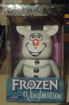 "Walt Disney Large Vinylmation Frozen olaf 9"" NEW in Box Christmas gift idea"