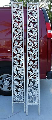 Mid Century modern architectural aluminum side bars for doorway