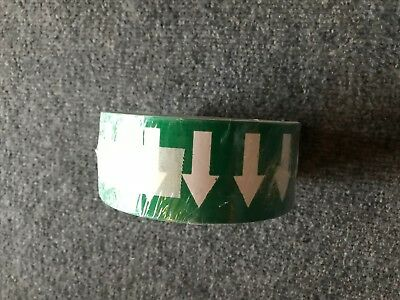 """2 rolls NEW Pipe Banding & Directional Flow Tape 2"""" Green w/ White Arrows"""