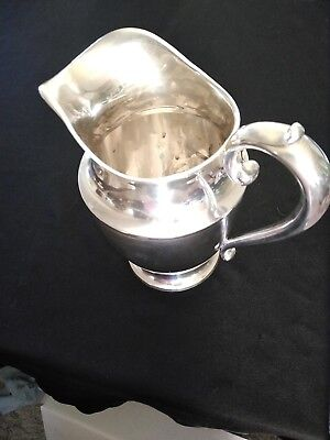 "Wallace Sterling Silver 4 PT Water Pitcher 9"" Tall  #4640-9"