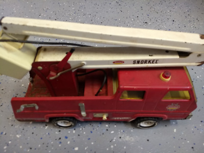Vintage TONKA 60 70's Snorkel Lift Bucket Pumper Fire Truck Pressed Steel Metal