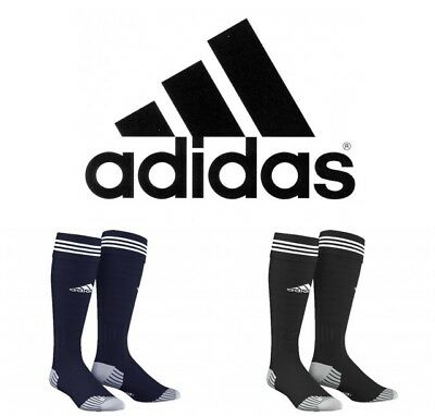 New Adidas Adisock Football Sports Socks Cushioned Blue Or Black Size Uk 8.5-10