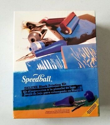 NEW SEALED Speedball Deluxe Block Printing Kit 3472 New