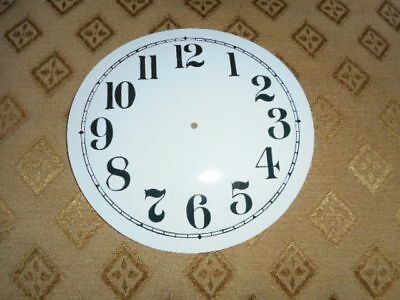 "Round Paper Clock Dial - 4 3/4"" M/T - Arabic-  GLOSS WHITE - Face/ Clock Parts"