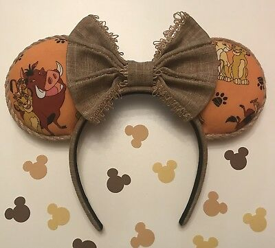Handmade Lion King Minnie Inspired Ears (New).