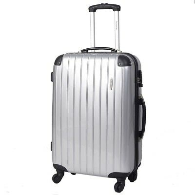 3 Pcs Luggage Travel Set Bag ABS+PC Trolley Suitcase w/TSA Lock