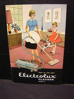 How to use your Electrolux Cleaner Vaccum Booklet 1960