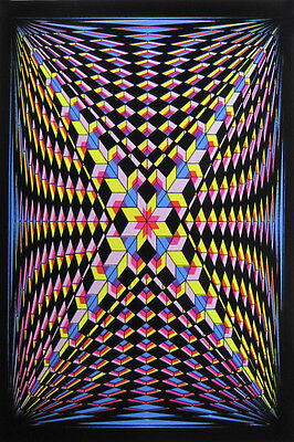 DOUBLE V 23x35 BLACK LIGHT POSTER MAGIC AMAZING COLORS SALE BRAND NEW HIPPIE!!!!