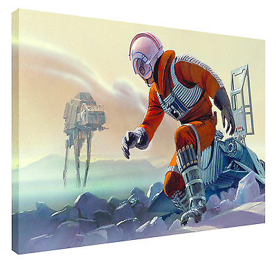 LUKE SKYWALKER ON HOTH! HD Canvas Art  Print (FRAMED) Fast Shipping! Star Wars