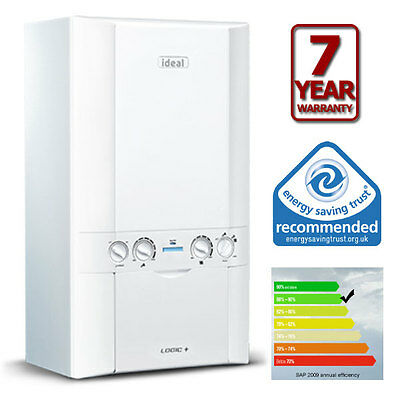 SUPPLIED and FITTED  Ideal Logic + Plus 24 ErP Combi Boiler 7 Years Guarantee