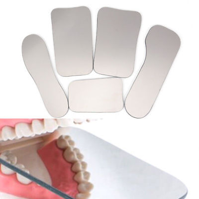 5 Types Dental Ortho Photographic Stainless Steel Reflector Photograph Mirror