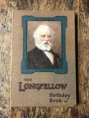 Antique HC Longfellow Birthday Book Illustrated by John H. Bacon Raphael Tuck