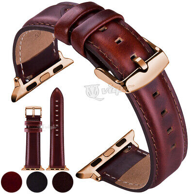 38 40 42 44mm For Apple Watch Series 1/2/3/4 Genuine Leather iWatch Band Strap