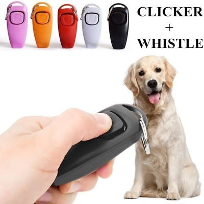 Dog Training Click Whistle Clicker Pet Guide Obedience Pet Trainer Click Puppy