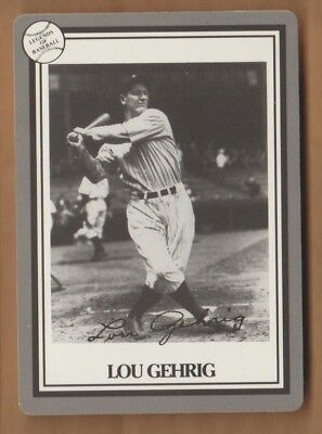 LOU GEHRIG 1993 Hoyle Legends Of Baseball Card New York Yankees '93