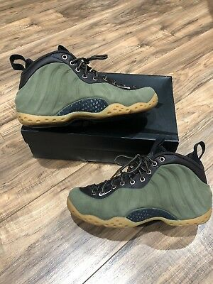 Rare Nike Air Foamposite One PRM Olive Suede New Mens Sz 7.5 Worn Once/Flawless