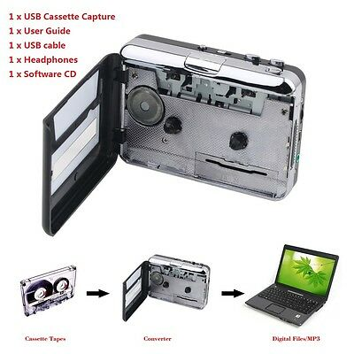 Tape to PC USB Cassette & MP3 CD Converter Capture Digital Audio MP3 Player OK