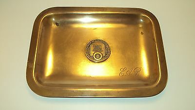 Brass Bronze Tray Vintage Whitehead & Hoag Standard Register Co Dayton OH VG