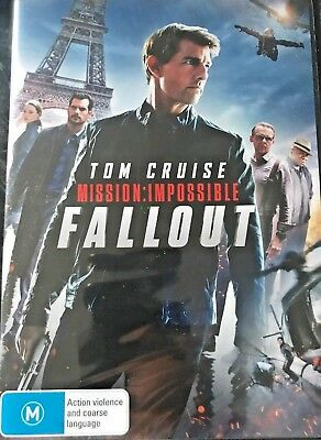 MISSION IMPOSSIBLE 6 FALLOUT 2018 TOM CRUISE Genuine RELEASE R4 DVD NEW SEALED