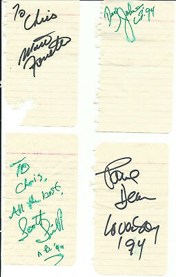 Loverboy Vintage 1994 Album Pages Signed By 4 In-Person