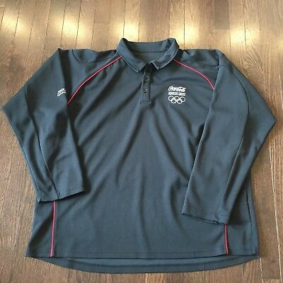 Coca-Cola Olympic Athletic Sweater Shirt  Mens Size XL