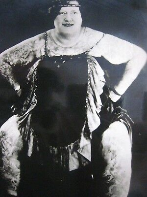 Tattooed Lady..' MADAM HALL ' ..T-104 ..KOBEL PHOTO...7'' X 5'' IN.