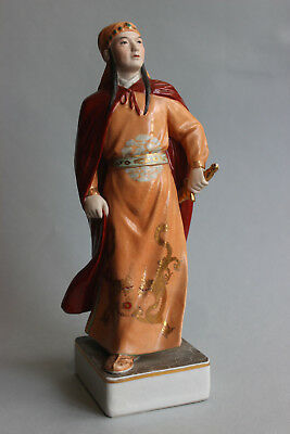 Old Jingdezhen Chinese porcelain figurine of girl Warrior USSR period