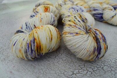 "Hand Dyed"" Hello Parker "" Monster  Sock Knitting Yarn  X 1 Skein"
